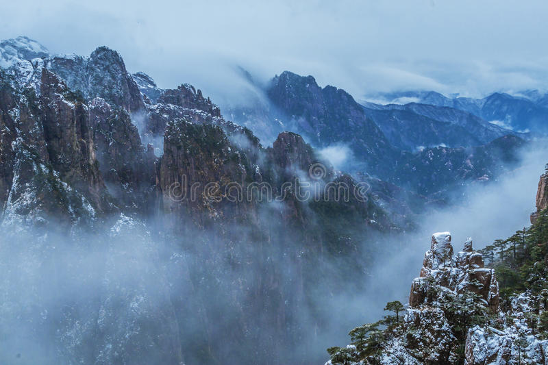 Montagna di Huangshan in Cina fotografia stock