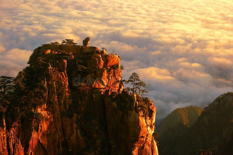 Montagna di Huangshan in Cina fotografie stock libere da diritti