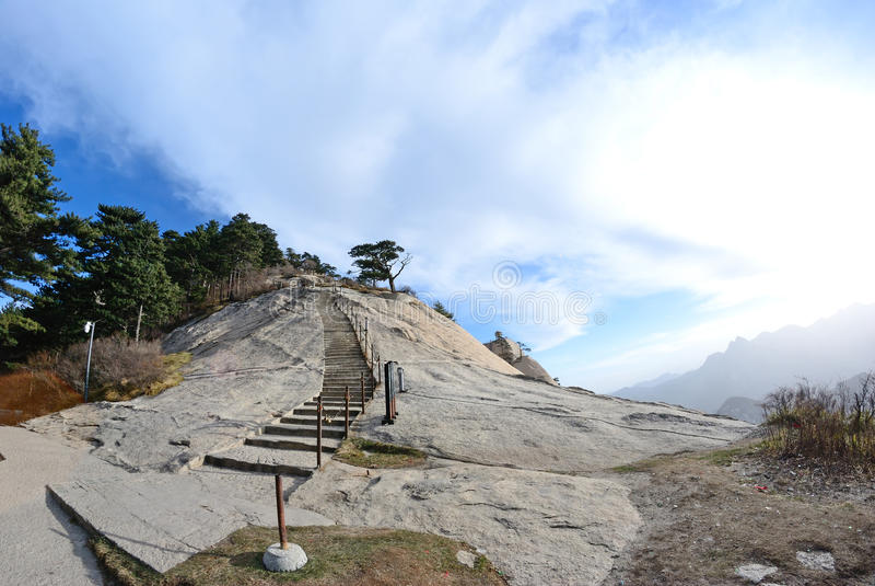 Montagna di Huashan immagini stock libere da diritti