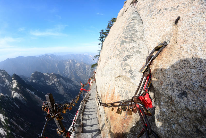 Montagna di Huashan fotografia stock libera da diritti
