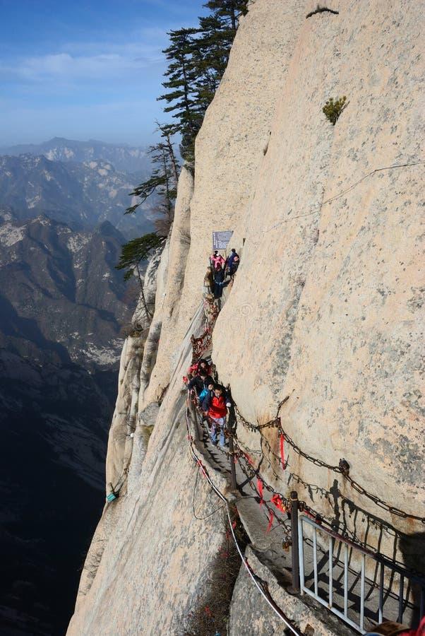 Montagna di Huashan fotografie stock