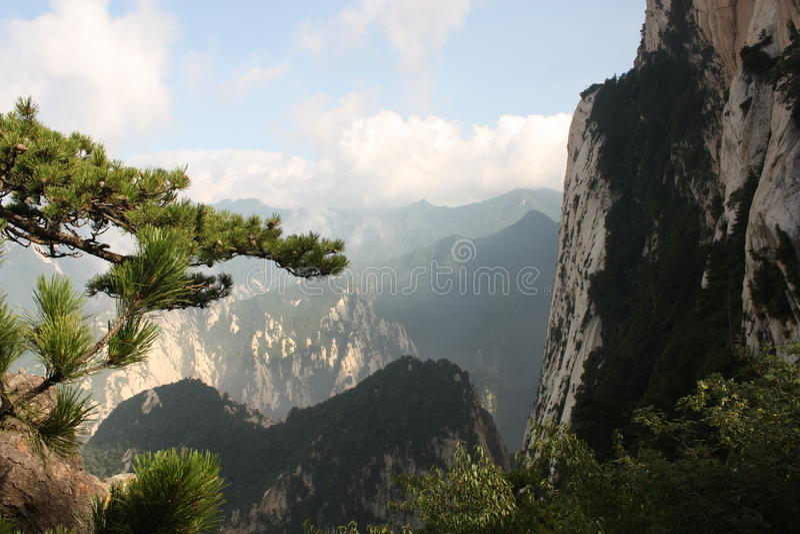 Montagna di Huashan in Cina immagine stock