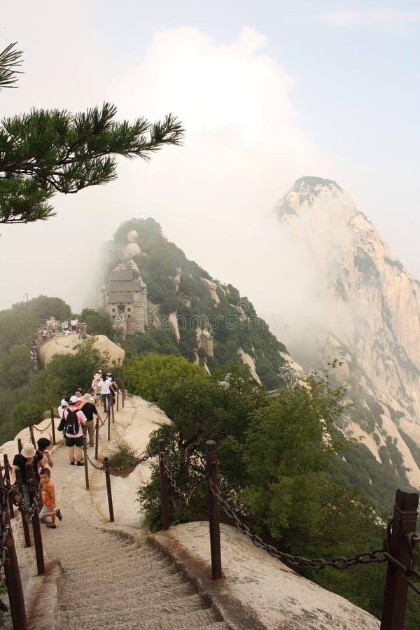 Montagna di Huashan in Cina fotografie stock libere da diritti