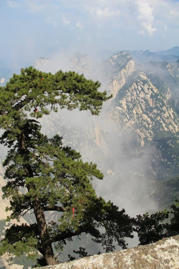 Montagna di Huashan, Xian, Cina fotografia stock libera da diritti