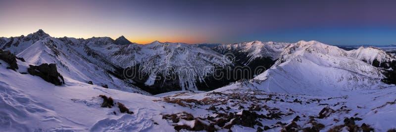 Montagna di inverno in Polonia, Kasprowy fotografie stock
