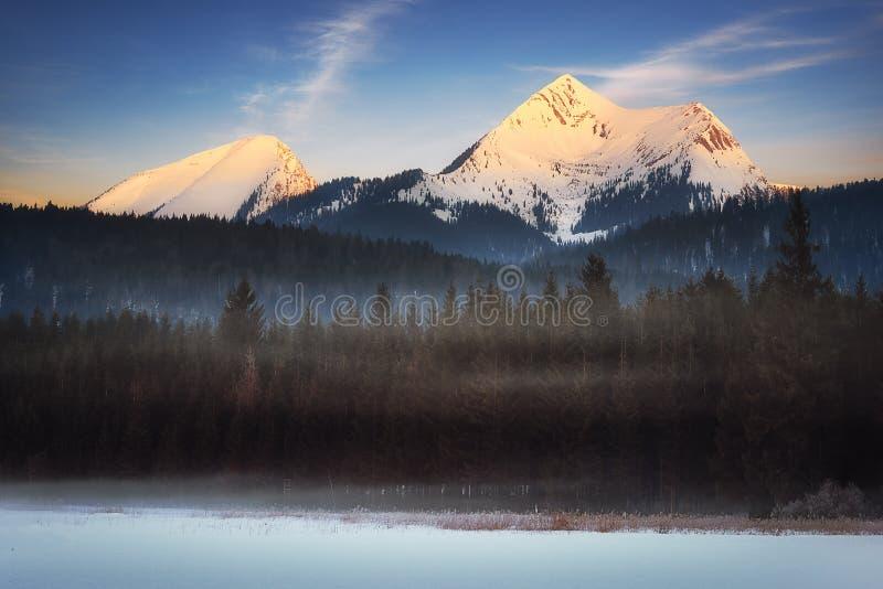Montagna di Krottenkopf e di Bischof Picco bavarese vicino a Garmisch Partenkirchen, Baviera, Germania immagini stock libere da diritti