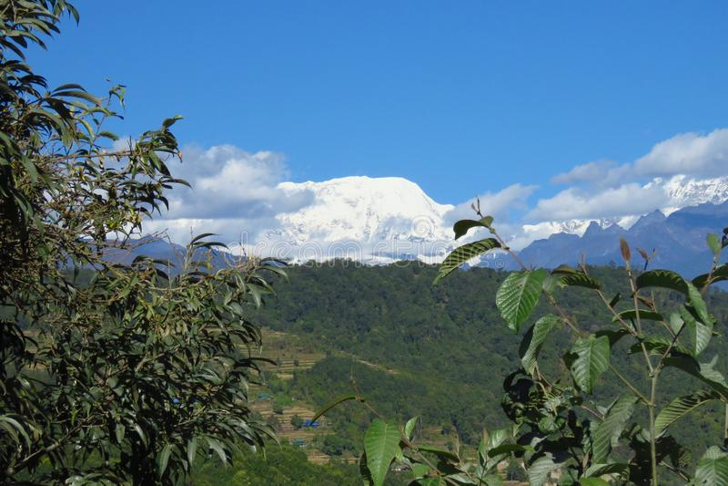 Montagna di Makalu in Himalaya, confine del Nepal e la Cina fotografia stock