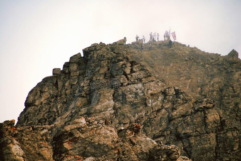 Montagna di Olympus, sommità di Mytikas fotografia stock libera da diritti