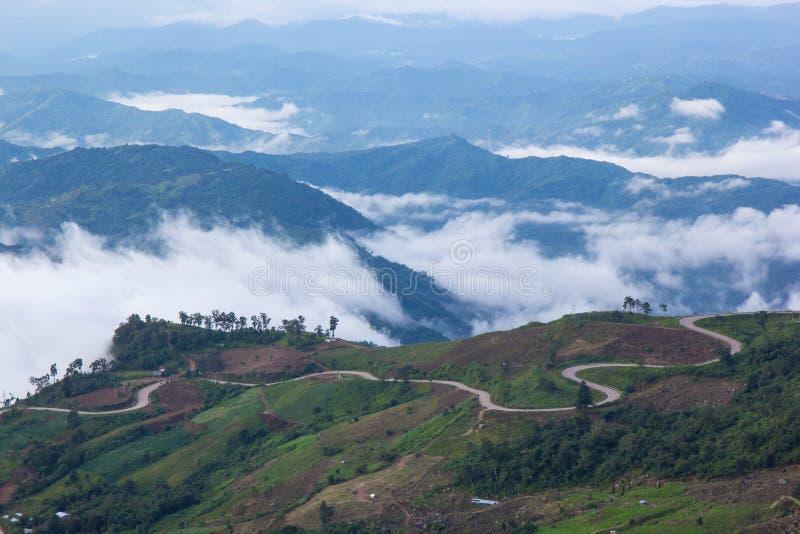 Montagna di Phutabberk, Tailandia fotografia stock