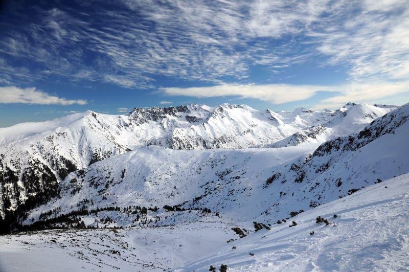Montagna di Pirin con neve fotografia stock libera da diritti