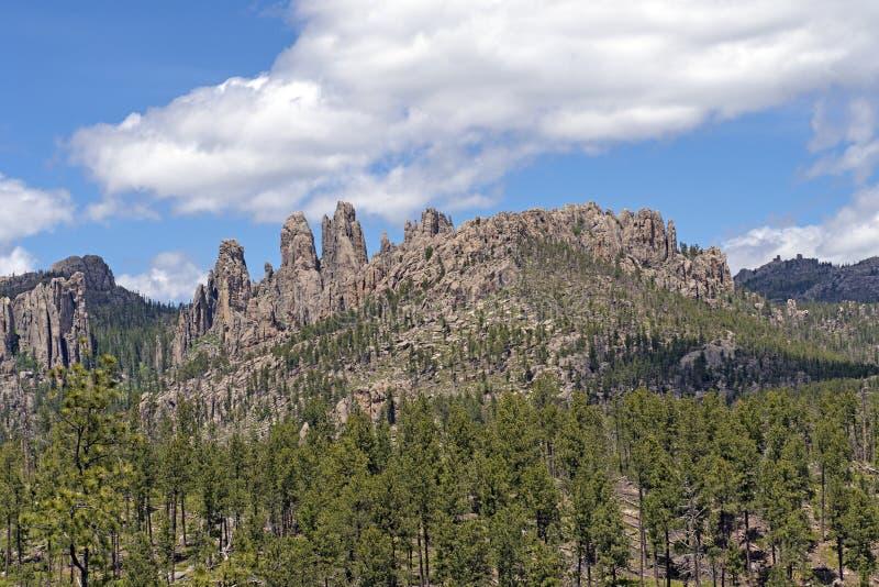 Montagna drammatica Ridge nel Black Hills fotografie stock libere da diritti