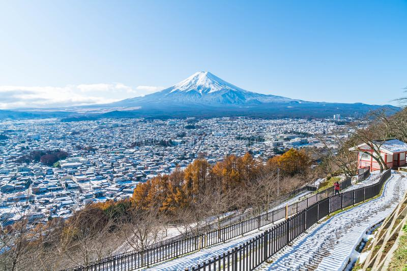 Montagna Fuji San a Kawaguchiko fotografia stock