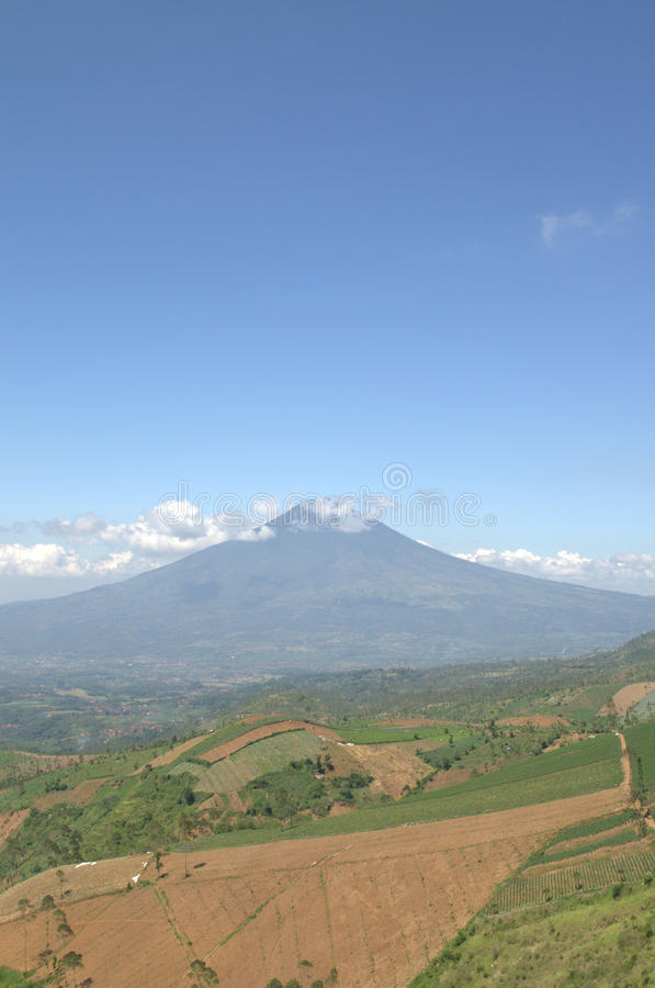 Montagna in Garut Indonesia fotografia stock libera da diritti