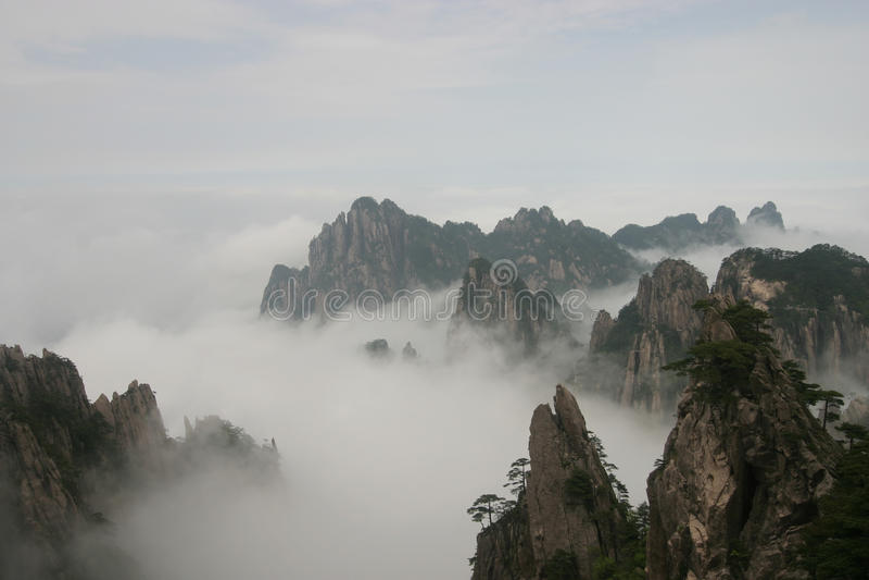 Montagna gialla 3, Cina immagini stock libere da diritti