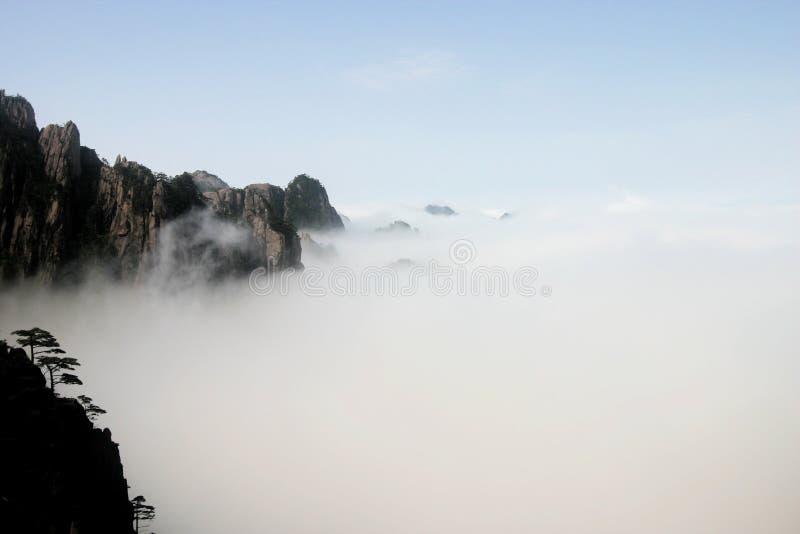 Montagna gialla, Cina fotografia stock