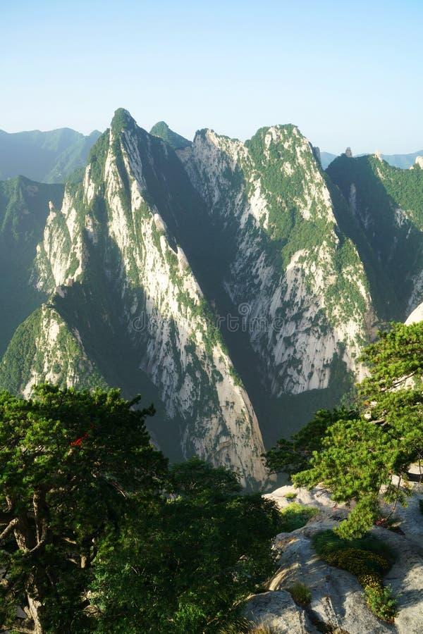montagna huashan fotografia stock
