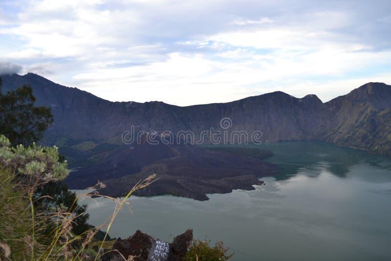 montagna Indonesia fotografia stock