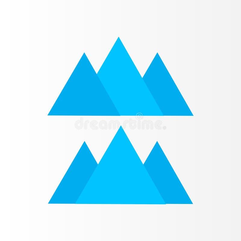 Montagna Logo Design Logo di vettore di tre montagne illustrazione vettoriale