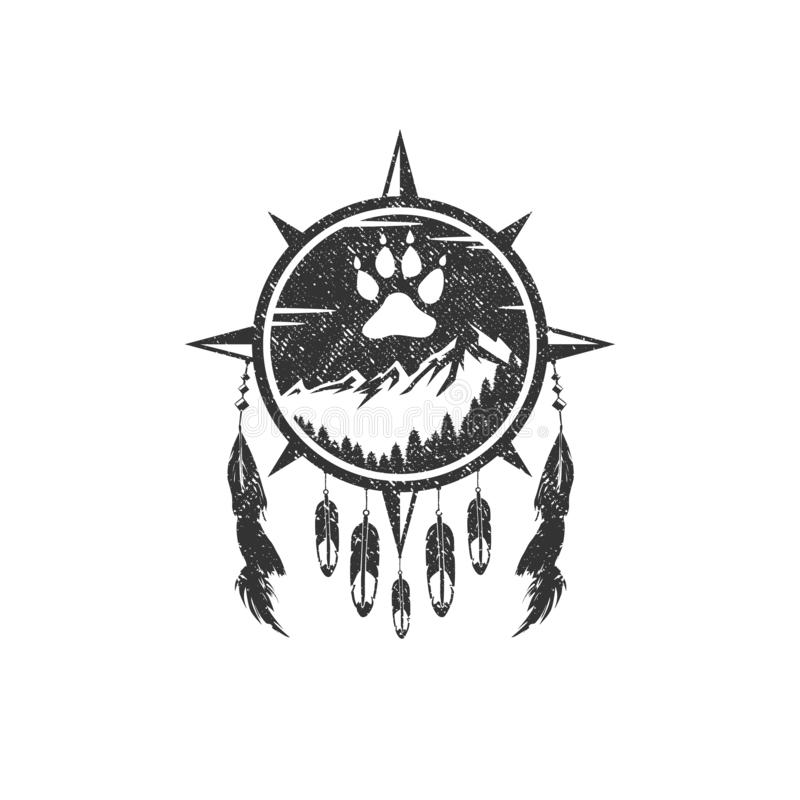 Montagna Logo Design Template royalty illustrazione gratis