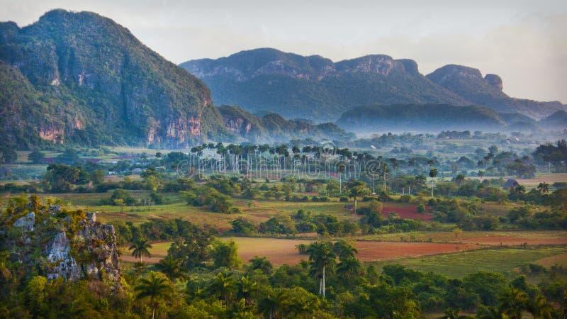 Montagna Mogote in Pinar del Rio, Vale de Vinales fotografia stock