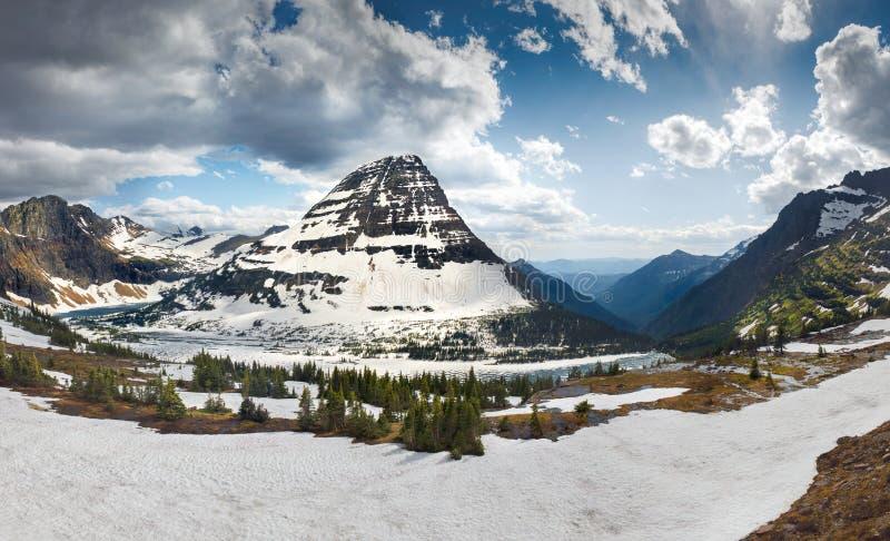 Montagna nascosta di Bearhat e del lago immagini stock