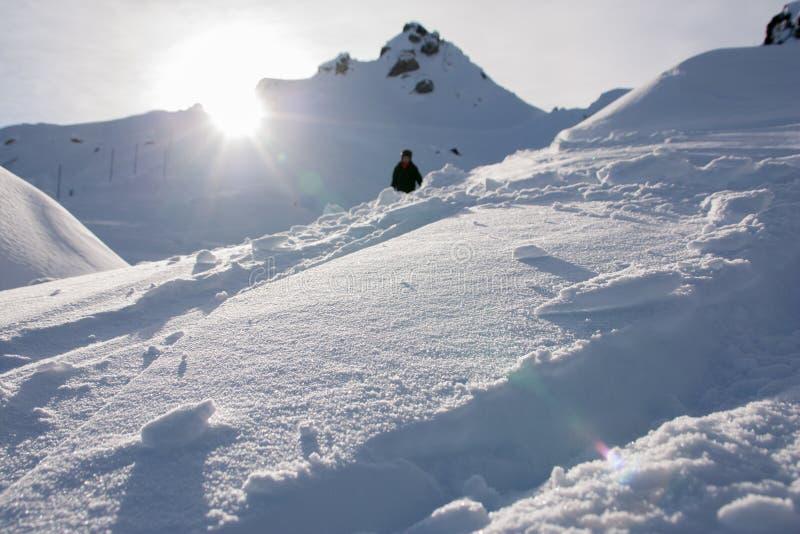 Montagna nell'inverno fotografia stock libera da diritti