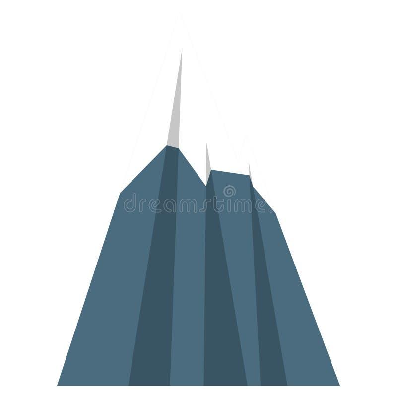 Montagna nevosa isolata illustrazione di stock