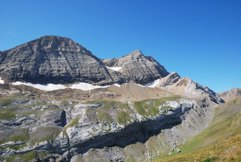 Montagna popolare Taillon in estate. immagine stock libera da diritti