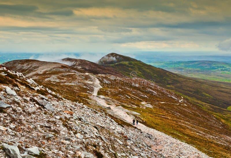 Montagna santa - Croagh Patrick, Irlanda immagini stock libere da diritti