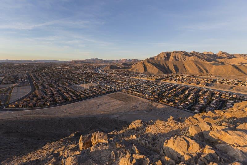 Montagna sola di nord-ovest Dawn View di Las Vegas fotografie stock libere da diritti