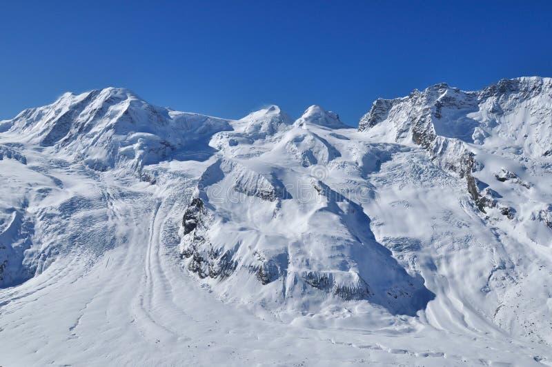 Montagna in Zermatt, Svizzera del Matterhorn fotografia stock libera da diritti