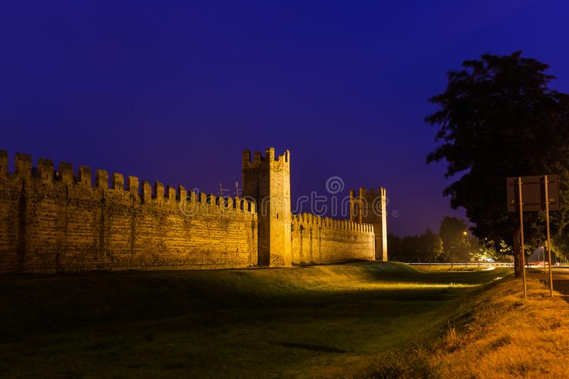 Montagnana medieval town in Italy. Architecture background royalty free stock photo