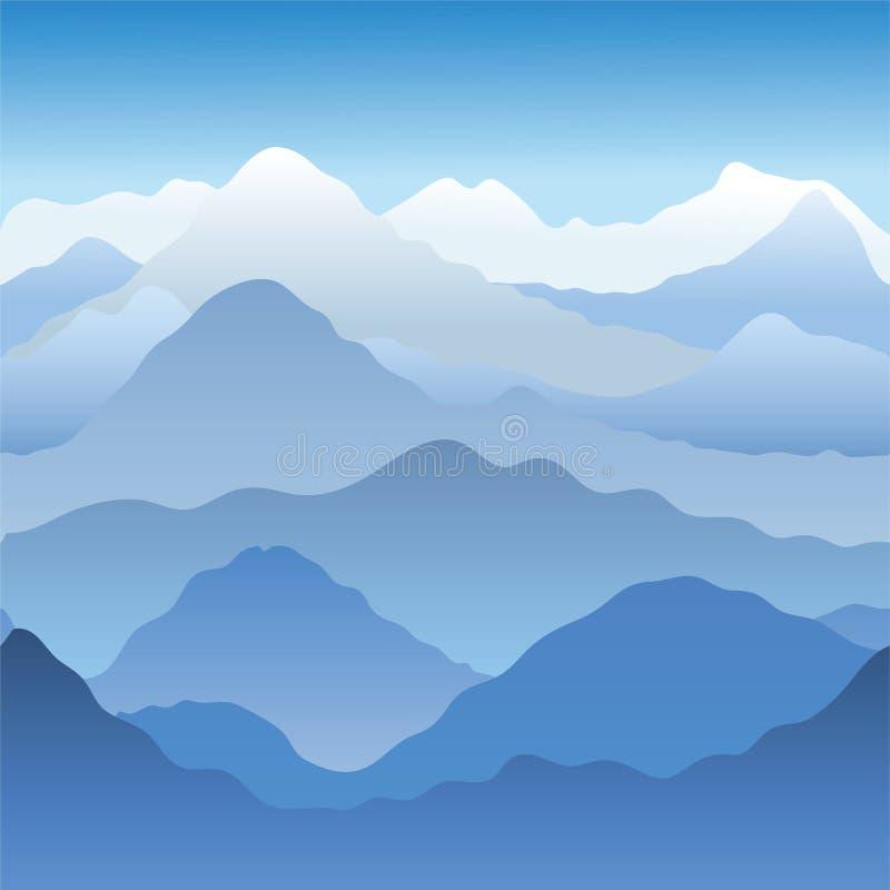 Montagne illustrazione di stock
