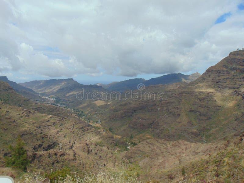 Montagne asciutte di Gran Canaria immagine stock