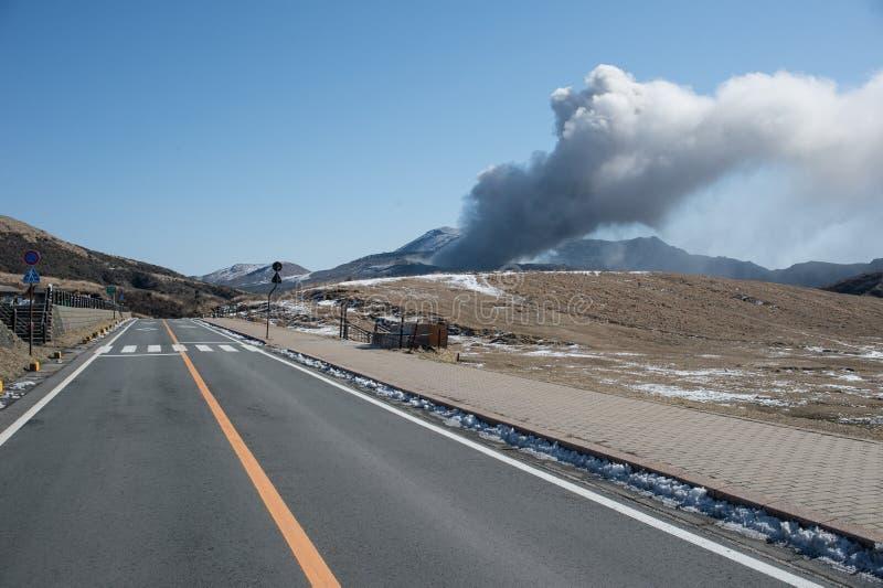Montagne Aso photo stock