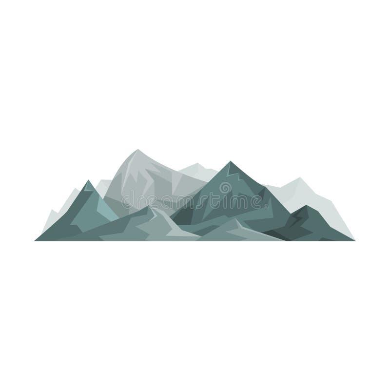 Montagne astratte, elemento all'aperto di progettazione, paesaggio della natura, illustrazione montagnosa di vettore di geologia illustrazione di stock