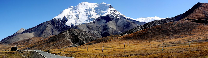 Montagne au Thibet photos stock