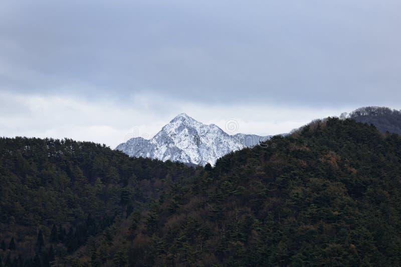 Montagne avec la neige photos libres de droits