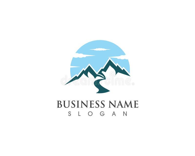 Montagne avec le nuage Logo Business Template Vector illustration libre de droits