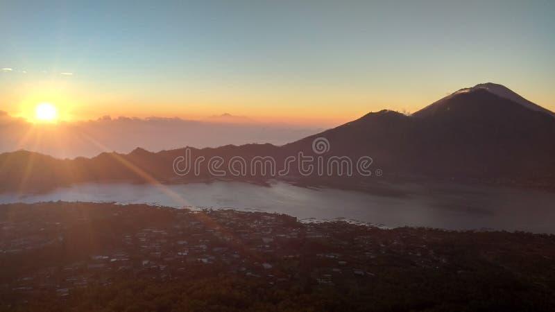 Montagne Batur Bali photographie stock libre de droits