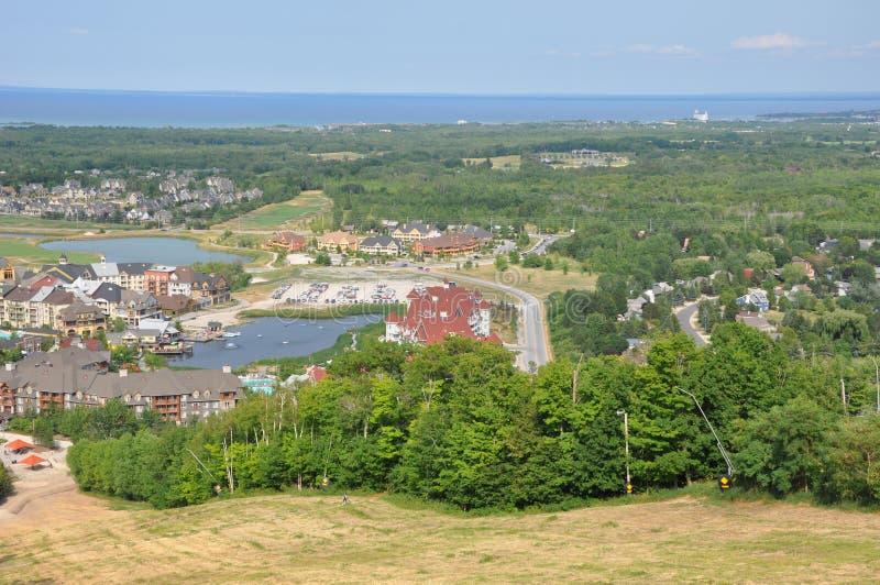 Montagne bleue dans Ontario photo stock