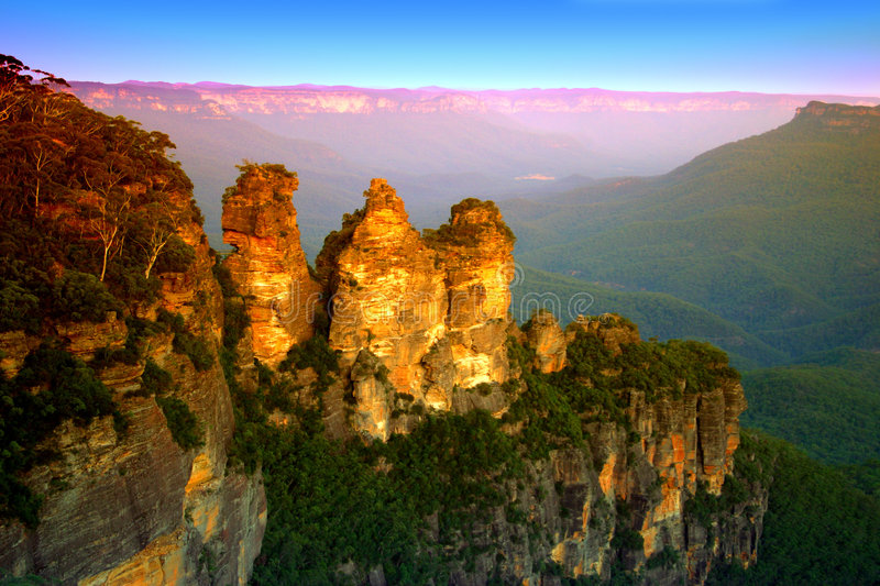 Montagne bleue, NSW, Australie photos stock