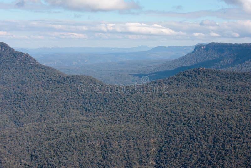 Montagne blu in NSW, australe fotografia stock libera da diritti