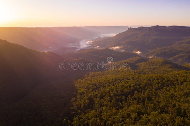 Montagne blu vicino a Sydney Australia fotografia stock libera da diritti
