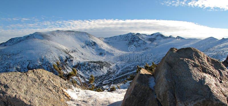 Montagne in Borovets, Bulgaria di Rila immagini stock libere da diritti