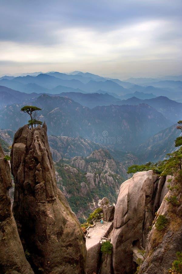 Montagne célèbre de la Chine photographie stock