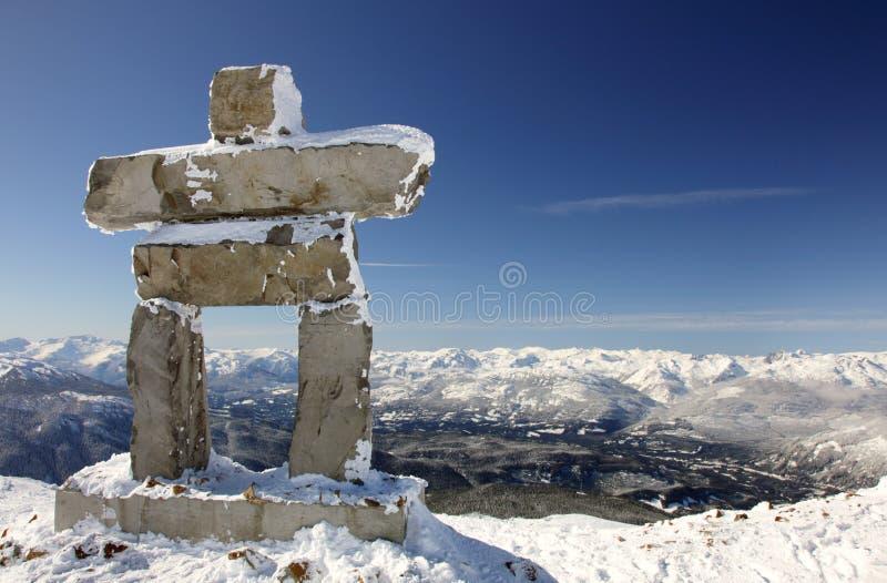 montagne côtière d'inunnguaq photographie stock
