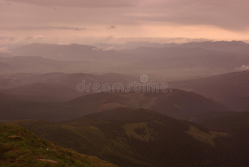 Montagne calde fotografie stock libere da diritti