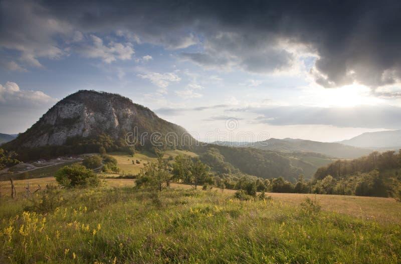 Montagne carpathienne image libre de droits
