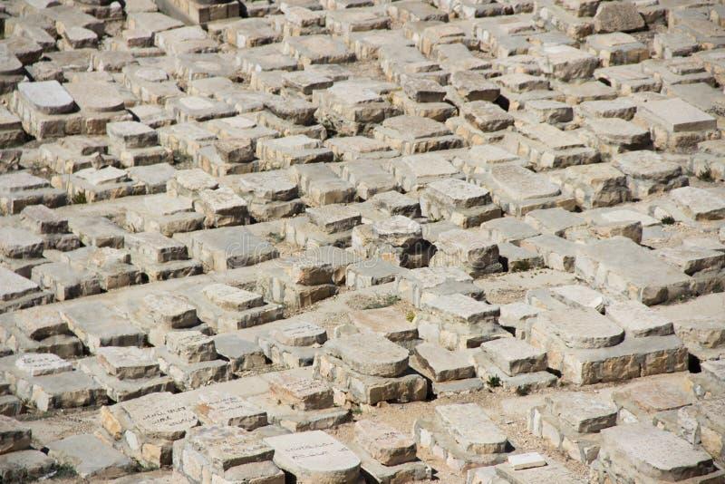 Montagne cemetry et olive juive antique, Jérusalem, Israël photographie stock libre de droits